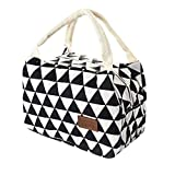 Wanshop ® Reusable Insulated Lunch Box Fashion portable practical Thermal Insulated Tote Picnic Lunch Waterproof Bag Handbag Pouch (B)