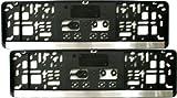 Kennzeichenhalter KURZ (46 cm) - CHROM (Leiste) - Satz (2 Stück)! - VERSANDKOSTENFREI! - Nummernschildhalter