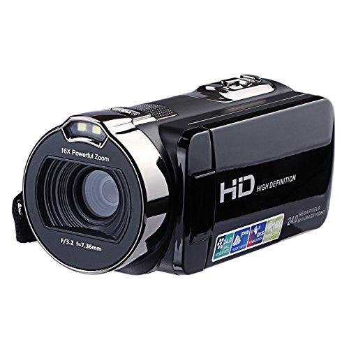 PowerLead Videocámara ,Vídeo Digital Cámara, 24MP Cámara Digital,16X Zoom Cámara,Pantalla LCD 2.7 Pulgadas Rotación de 270 °