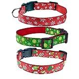 Amakunft Reflektierendes langlebiges Hundehalsband mit Name, Bestickte Name, Telefonnummer, Haustierhalsband, personalisierbares ID-Halsband für Hunde