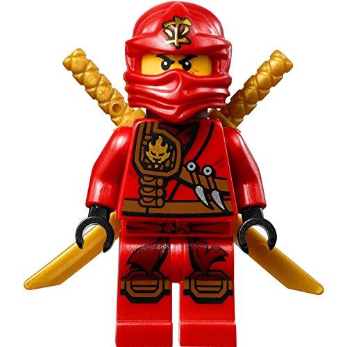 LEGO Ninjago: Minifigur Kai (roter Ninja) mit Schwerthalter und zwei Katanas (Ninjago Ninja Roter)