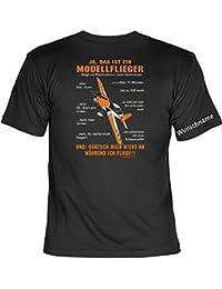 T-Shirt mit Wunschname - Ferngesteuerter Modellflieger - Lustiges Sprüche Shirt als Geschenk für Modellflug Piloten mit Humor - NEU mit persönlichem Namen