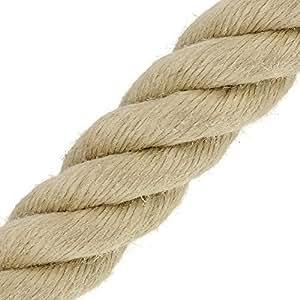 Corde Cordage en chanvre synthétique 30mm vente au mètre toronné Catégorie A (prix au mètre)