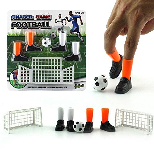 el,Finger Fußball Spiel Spielzeug Lustige Finger Spielzeug Spiel Sets mit Zwei Zielen 2 Set (Schwarz) ()