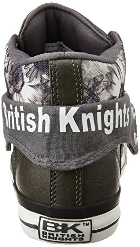 Fonc TOP Knights M脛DCHEN ROCO SCHUH British Gris SNEAKER HIGH nq8AFCC7Pw