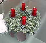 ARTECSIS 4 Kerzenhalter für Adventskranz Adventskerzenhalter schwarz Durchmesser 10cm - 2