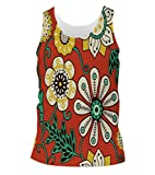 Snoogg Colorful Floral Seamless Pattern In Cartoon Style Seamless Pattern Mens Casual Beach Fitness Vests Tank Tops Sleeveless T shirts