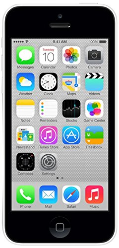 "Apple iPhone 5c Single SIM 4G 8GB White - Smartphones (10.2 cm (4""), 8 GB, 8 MP, iOS, 7, White)"
