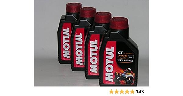 Motul 4t 7100 10 W40 Set 4 X 1 Liter 4 Liter Synthetisches Motoröl Für Motorrad Alle Produkte