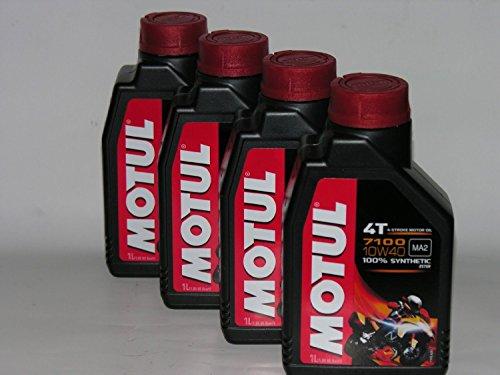 4 LT LITRI OLIO motore moto 4t MOTUL 7100 10W40 100% Sintetico NEW Ester