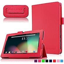 """Infiland Folio PU Cuero Funda Cascara Delgada con Soporte para Alldaymall A88X- Tablet de 7"""" pulgadas,Trimeo 7 Pulgadas Tablet, Arespark ultrafino Tablet de 7 pulgadas,Rotor® Tablet de 7 pulgadas,Trimeo Win - 17.8 cm (7 pulgadas) Tablet, DUO 7 pulgadas Bluetooth HD 1024X600 Tablet PC ,Yuntab Q88 Tablet de 7''"""