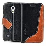 elephones Handy Tasche Schutz Hülle im Bookstyle für Samsung Galaxy S4 Mini Wallet Case mit Kartenfächer Geldscheinfach Standfunktion