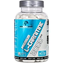 BWG Premium L-Carnitin 2000, Extrem Hochdosiert, Definitionsphase, 3000 mg L-Carnitintartrat Tagesportion, Made in Germany, 100 Kapseln, 1er Pack (1 x 100g Dose)