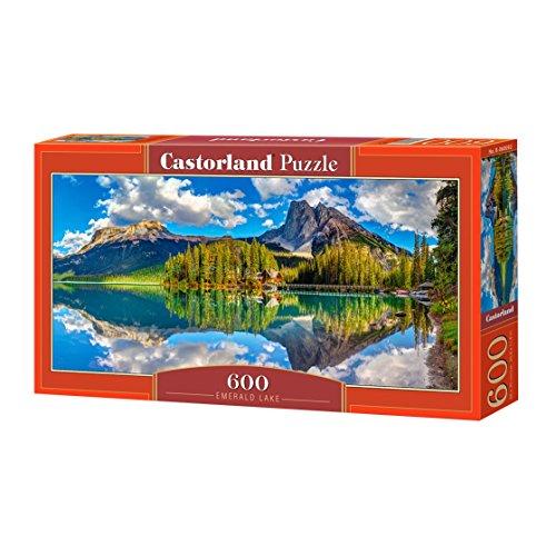 CASTORLAND Emerald Lake 600 pcs Puzzle - Rompecabezas (Puzzle Rompecabezas, Paisaje, Niños y Adultos, Niño/niña, 9 año(s), Interior)