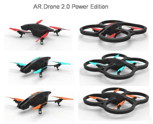 Parrot AR.Drone 2.0 Power Edition Quadrocopter (geeignet für Android-/Apple-Smartphones und -Tablets) rot - 12