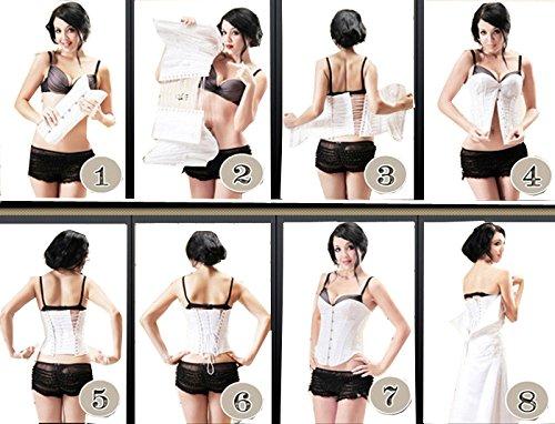 ZAMME Damen Korsett für Taillen-Trainings Latex Women Formende Wäsche Cincher Schwarz