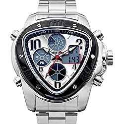 EURO Spirit Speed Master Japan Quartz Movement Watch Stainless Steel Strap for Men,Boys Sunray Silver