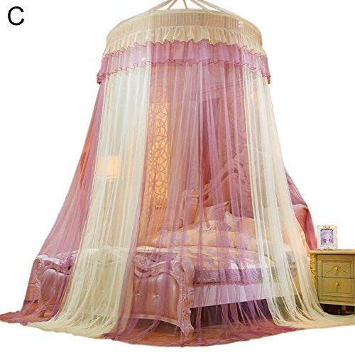 Somedays #1 Das beste Moskitonetz – Das größte Doppelbett Moskitonetz Baldachin – Insekten Malaria Schutz,Bunte Farbe (C)