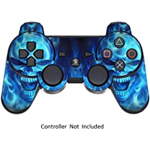 Pelle for PS3 Controller Decalcomania Playstation 3 Adesivo - Sony DualShock Wireless Controllore Sixaxis Gioco Sticker Skins - Blue Daemon