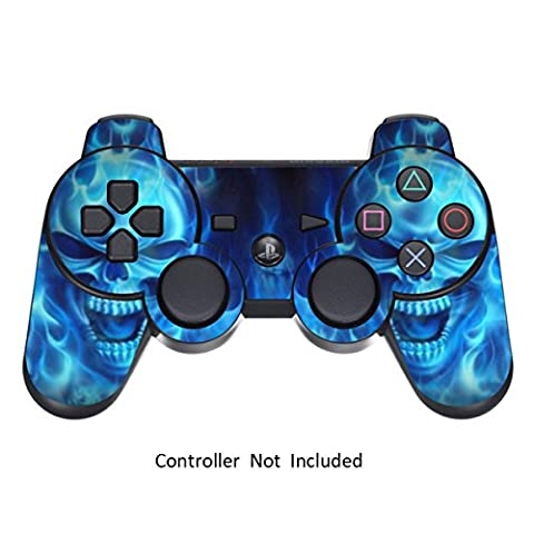 GameXcel ® Peau Sony PS3 Controller - Personnalisé Playstation 3 vinyle autocollant à distance - Play Station 3 Joystick Decal - Blue Deamon [Controller Non