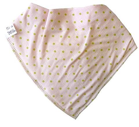 Single Baby Bandana Dribble Bib 100% Cotton with Fleece Lining, Multi - Sweetpea