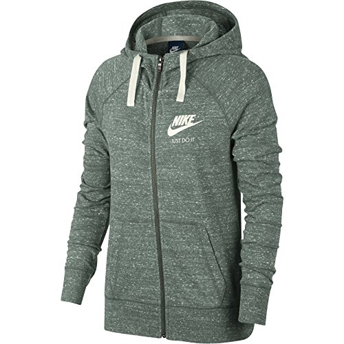 883729 Vela Con Zip Donne Nike Cappuccio Intera 365 Argilla Verde zwAEzqxIr