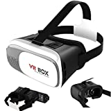 Semoss Universal 3D VR Gafas Realidad Virtual Goggle Ajustable VR Box Carton Auriculares para 4.0 a 6.0 pulgada IOS Android Samsung iPhone HTC LG Huawei Sony Nokia smartphone
