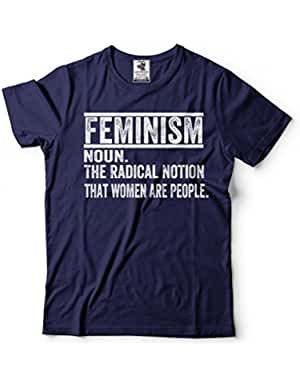 Camiseta unisex THE RADICAL NOTION THAT WOMEN ARE PEOPLE. Colores azul, negra, blanca, rosa y más