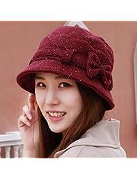 HAPPY-Cap Sombrero Mujer Cuenca Casquillo Engrosamiento Pescador Sombrero  de Mediana Edad Madre Sombrero Esposa dd34ff5a8e8