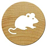 Woodies Mini Stempel Maus, Holz, 1,5 x 1,5 x 3 cm