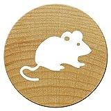 Woodies Mini Stempel Maus, Holz, 1,5x 1,5x 3cm
