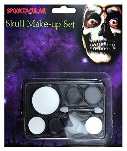Islander Fashions New Adult Horror Halloween Sch�del Make-up Set Unisex Fancy Scary Gesicht Zubeh�r Einheitsgr��e