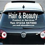 Negocio iClobber del pelo y la belleza del coche de la muestra. Para ventanas, puertas etc., azul oscuro, talla única