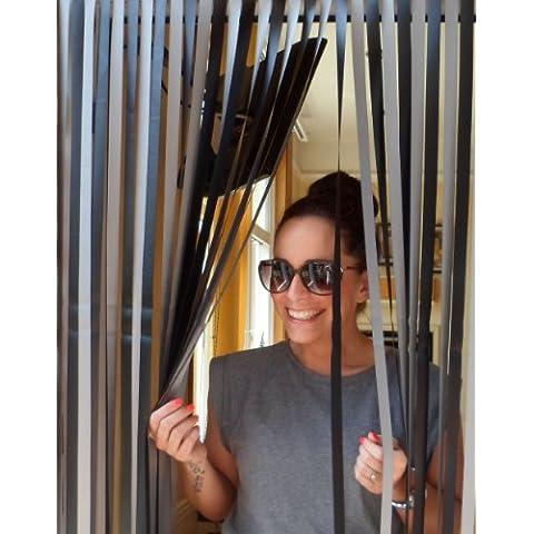 Deber pesada puerta de cortina Caravana - 62 cm de ancho. Perfecto para caravanas y casas móviles. 'Negro y