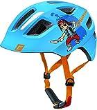 Cratoni Kinder Maxster Fahrradhelm, Blue Pirate Glossy, XS-S