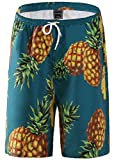 fanhang addominali con la stampa per l'ananas uomini donne (BLU, L)