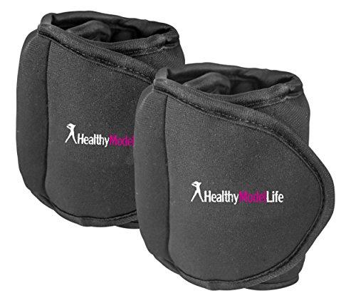 stronger verstelbare gewichtsmanchetten voor benen | professionele fitnessapparaat voor vrouwen bij heimtraining voor zegens en bilspier | 2Neopreen manchetten 1x 2.2kg