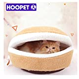 Warmes Katze Bett Haus Hamburger Bett disassemblability winddicht Pet Puppy Nest Shell Verstecken Burger Haarknoten für Winter