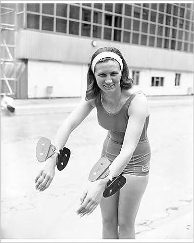 Photographic Print of Swimming - Anita Lonsbrough - Oasis Pool,