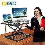 Standing Desk Stand Up Desks Height Adjustable 32 inch Sit Stand Converter Dual
