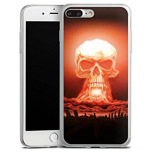 Apple iPhone X Slim Case Silikon Hülle Schutzhülle Explosion Totenkopf Stadt Silikon Slim Case transparent
