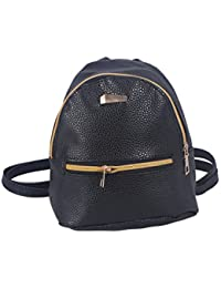 927f834d77 OULII Women s New Fashion Causal Backpack Travel Handbag School Bags  Rucksack Daypack (Black)