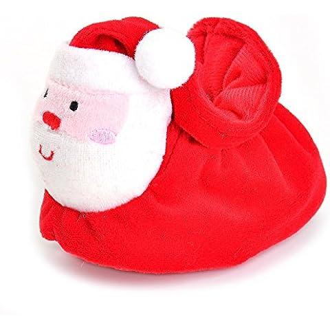 Estamico Infant Boys Baby scarpe ragazze caldo Natale rosso US 3