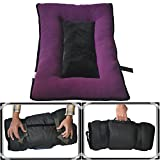 #2: Comfy-German Fleece Fabric HQ PolyFill Filled Foldable Dog/Cat Bed With Handle-XXL (24X38