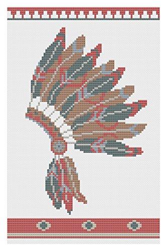 Kopfschmuck Apache (Apache Kopfschmuck Kreuzstich)