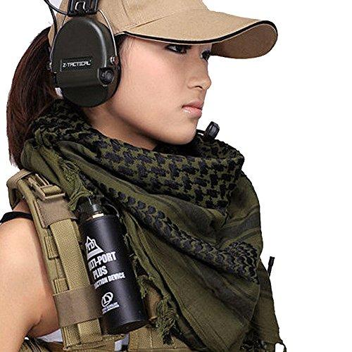 Brawdress Arabischen Stil Armee Schal Maske Militär Winddichte Outdoor-Schal-Halstuch (Grün) (Militär Kleidung Armee)