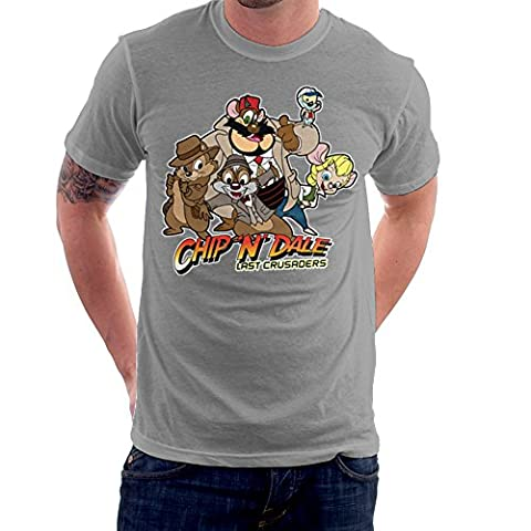 Chip N Dale Last Crusaders Indiana Jones Rescue Rangers Men's T-Shirt