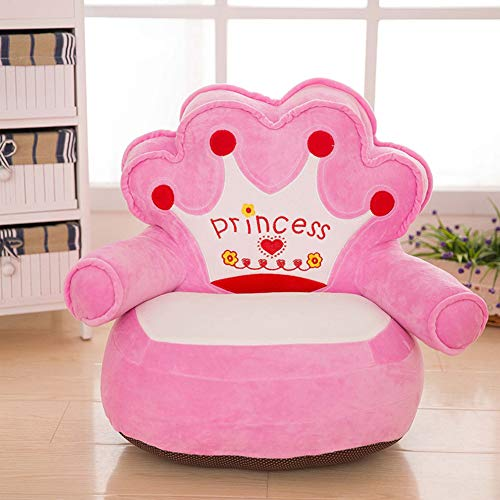 WAYERTY Kindersofa, Kinder Sofa Mini Cartoon Baby- kindersitz Boy und Girl Single Faul Lesen Polstermöbel Schlafzimmer Mini-Sessel-Rosa 40x50cm(16x20inch)