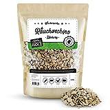 Räuchergarten Premium Räucherchips - 1kg Hickory Smoker Chunks für optimales Raucharoma beim Grillen - 100% natürliches Räucherholz aus Deutschland