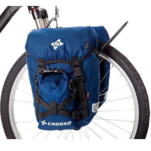 CROSSO EXPERT SMALL CO1007 40L Set Fahrradtasche Biketasche Gepäckträgertasche Blau